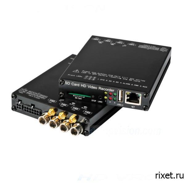 4х канальный видеорегистратор для учебного автомобиля RIXET 4K Wi-Fi Full HD